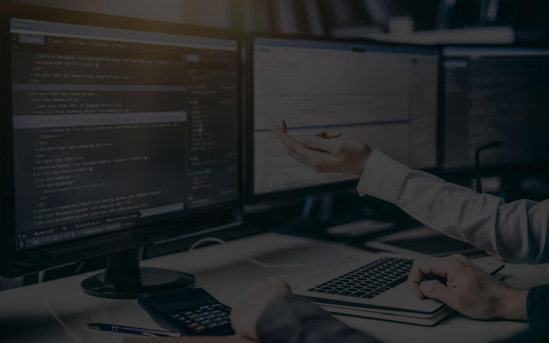"""Développement de <span class=""""custom"""">logiciels </span> en ligne"""