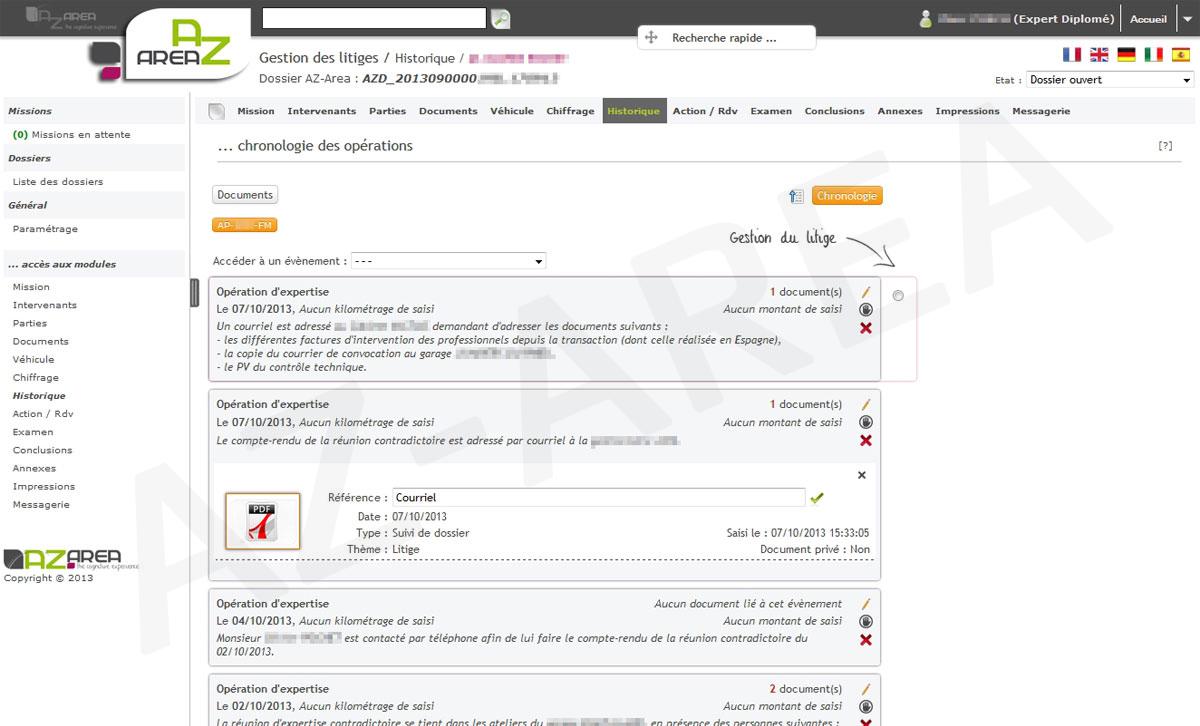 Z-INDEX - Logiciel de gestion des dossiers PJ - RCP