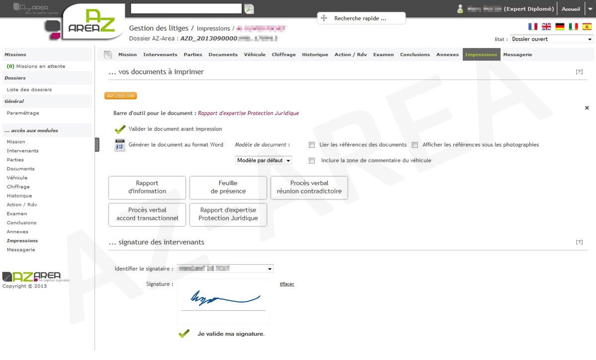 Z-INDEX - Logiciel de gestion des expertises fourrière